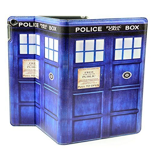 ipad Air II Case Doctor Who Tardis Pattern Unique Design PU Leather Stand Case Smart Cover For ipad Air 2