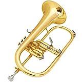 マックストーン フリューゲルホルン B♭管 セミハードケース付属 FH-50L ゴールドラッカー仕上げ