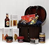 The Victorian Gourmet Box - Luxury Wooden Replica Hat Box Gift Hamper with 11 Items by Fine Food Store Gift ideas for - Valentines,Presents,Birthday,Men,Him,Dad,Her,Mum,Thank you,Wedding Anniversary,Engagement,18th,21st,30th,40th,50th,60th,70th,80th,90th