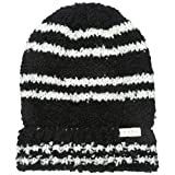 Neff Women's Kim Boucle Stripe Fold Beanie, Black, One Size
