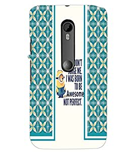 PrintDhaba Quote D-2788 Back Case Cover for MOTOROLA MOTO G3 (Multi-Coloured)