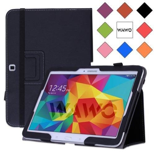 Wawo Samsung Galaxy Tab 4 10.1 Inch Tablet Smart Cover Creative Folio Case - Black front-832650