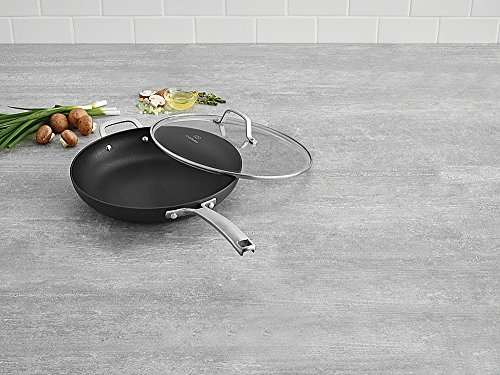 Calphalon 1932340 Classic Nonstick Omelet Fry Pan with Cover, 12 Inch, Grey