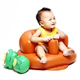 Inflatable Ventilated Empire Chair w/ Built-in Pump for Kids Orange
