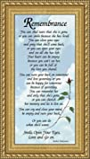Sympathy Poem Remembrance for Female  4.5 X 8 with Built in Easel
