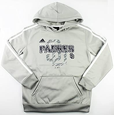 San Diego Padres MLB Youth Striped Pullover Hooded Sweatshirt