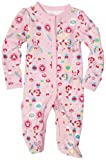 Disney Baby-Girls Newborn Minnie Mouse Floral Rainbow Sleep and Play Romper