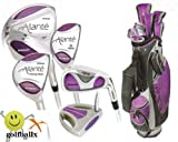 5102gVWjtJL. SL160  Allante Ladies Pink  Edition Full Golf Club Set with Matching Golf Bag & Putter: Right Hand; Petite or Regular Length