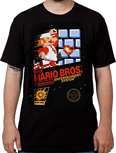 Men's Nintendo Cartridge Art Super Mario Brothers T-Shirt