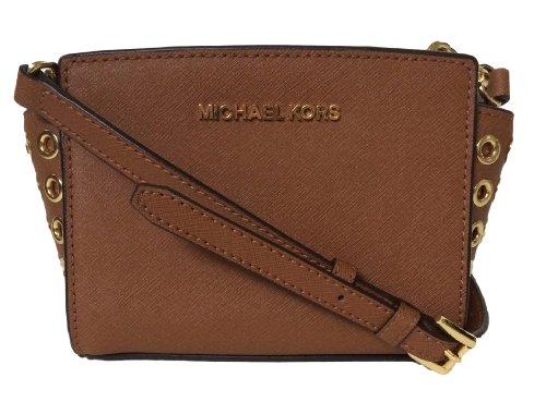 MICHAEL Michael KorsMichael Kors Genuine Leather Selma Grommet Mini Messenger Luggage