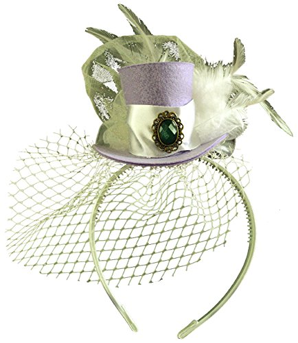 [Lavender Felt Mini Top Hat Mad Hatter Birthday Wedding Tea Party Alice in Wonderland] (Kids Mad Hatters Tea Party Costumes)