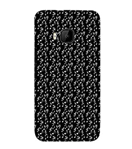 EPICCASE black music Mobile Back Case Cover For HTC One M9 (Designer Case)