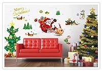 Salala Christmas Santa Claus Sled Christmas Tree Wall Decal Decor Gift for Kid Merry Christmas Home Decor by Salala