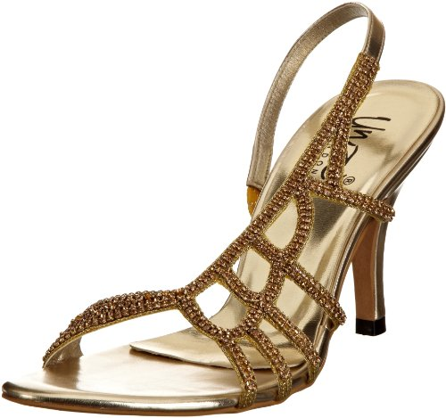 Unze Evening Sandals Womens Flip-flops L18205W Gold 7 UK