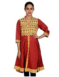Rajrang Women Partywear Dress Kurta Tunics Long Kurti Top Size XL - B00RVJLZLQ