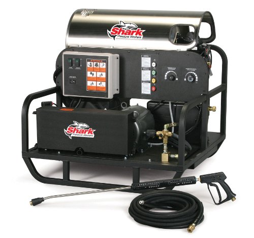 Shark Sse-503007B 3,000 Psi 4.8 Gpm 230 Volt Electric Hot Water Industrial Series Pressure Washer