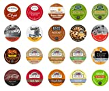 Crazy Cups Holiday Deluxe Sampler Pack, Single-cup coffee pack sampler for Keurig Single serve cup Brewers, 20-Count