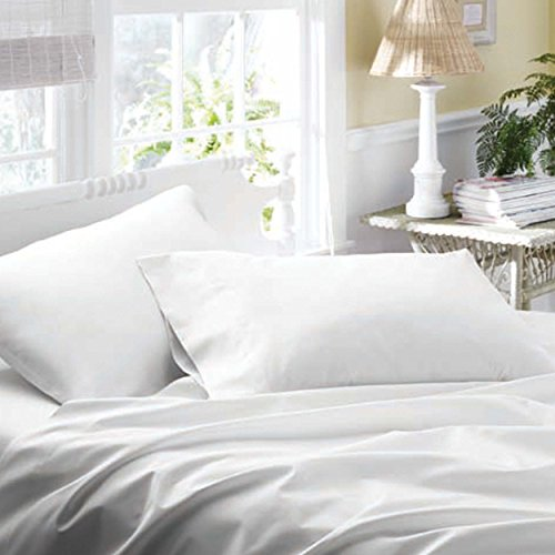 Laura Ashley Cotton Sateen Sheet Sets, King, White front-857289