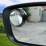 1-Paar-Auto-Rckspiegel-kleiner-runder-Spiegel-Passen-Most-Carschwarz