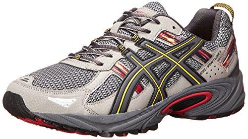 ASICS Men's Gel Venture 5 Running Shoe, Light Grey/Graphite/Red, 8.5 M US (America Shoes Men compare prices)