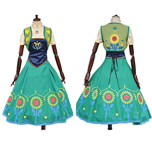 Starkma 2015 Anna Princess Sunflower Dress Costumes for Adult (M)