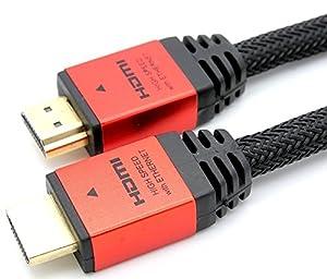 LCS - CALLISTO - 5M - Câble HDMI 1.4 - 2.0 - Professionnel - 3D - Ultra HD 4K 2160p - Full HD 1080p - Audio Return Channel (ARC) - Signal Vidéo Haute performance avec Ethernet - Connecteurs plaqués or