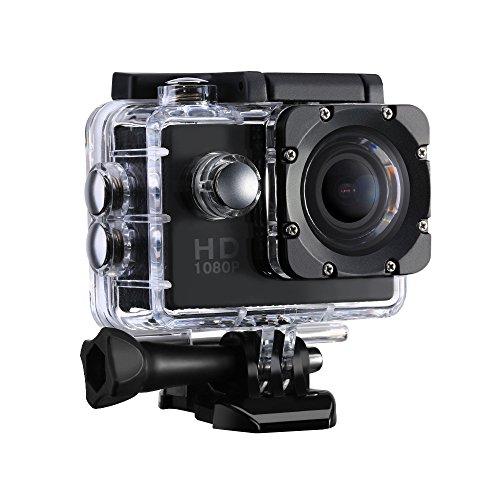 VicTsing Caméra de Sport et Action Haute Définition Full HD 1080p 12MP 30M Étanche Caméscope d'action 170 degrée Multifonction Caméra Embarquée