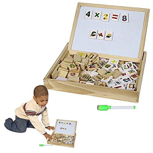Toy-Cubby-Kids-Toddler-Wooden-Alphabet-and-Number-Blocks-with-Magnetic-Whiteboard-and-Blackboard