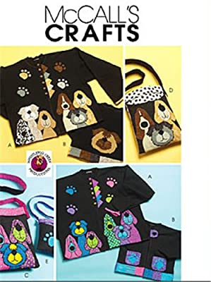 McCall's 5407 Crafts Sewing Pattern Dog Appliques Totes