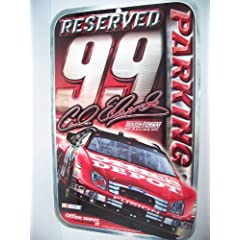 CARL EDWARDS 11x17 Reserved Parking Sign by NASCAR