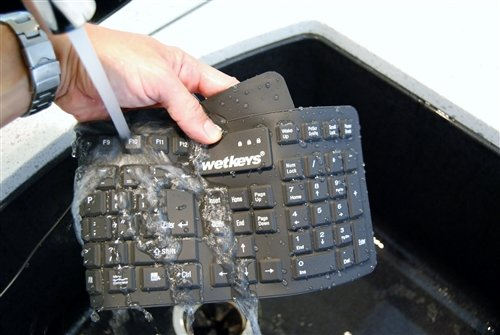 Professional Grade Full-size Flexible Silicone Waterproof Keyboard (USB) (Black) | KBWKFC106-BK