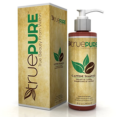TruePure Natural Caffeine Shampoo With CoffeePure Complex - Fragrance Free, Non-GMO, Paraben & Sulfate Free Formula For Hair Loss Prevention & Healthy Hair Growth - 8oz (Caffeine Extract Hair compare prices)
