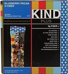 KIND Blueberry Pecan + Fiber - Box of 12 Bars