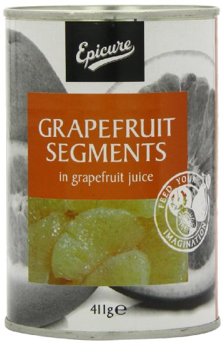 Epicure Grapefruit Segments in Grapefruit Juice 411 g (Pack of 12)