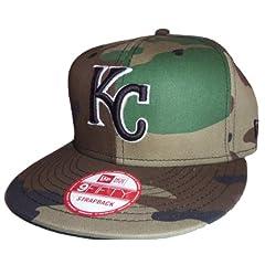 New Era MLB Kansas City Royals 9Fifty Camouflage Flat Bill Adjustable Strapback Hat