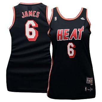 Miami Heat Lebron James #6 Adidas HWC Ladies Replica Jersey by adidas