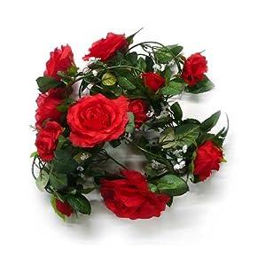 Burgundy Claret Red Garland Silk Wedding Flowers Roses