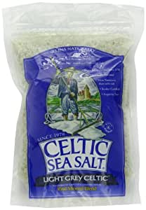 Light Grey Celtic coarse sea salt, 1 lb. bag