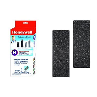 Honeywell True HEPA Air Purifier Replacement Filter, HRF-H1/Filter (H) & Honeywell Odor-Reducing Air Purifier Replacement Pre-Filter 2 Pack, HRF-B2 /Filter (B)
