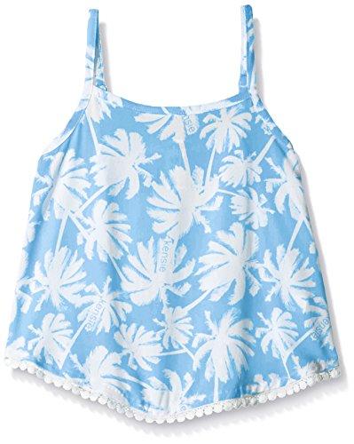 kensie-little-girls-printed-rayon-tank-with-pom-trim-blue-6x