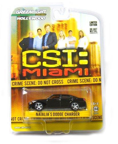 """3"""" """"CSI: Miami"""" Natalia's Dodge Charger 1:64 Scale (Black)"""