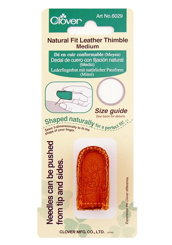 Great Deal! Clover Natural Fit Leather Thimble, Medium