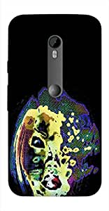 Timpax Slip-resistant, stain-resistant and tear-resistant Hard Back Case Cover Printed Design : A painted woman.Exclusively Design For : Motorola Moto-G-3 ( 3rd Gen )