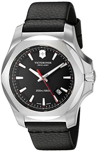victorinox swiss army men s 241737 1 i n o x leather analog swiss victorinox swiss army men s 241737 1 i n o x leather analog swiss quartz black leather watch