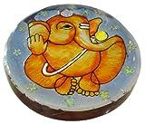 Irshikaa hues Paper Weight Round ganesha (8x9x5 cm)