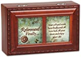 Cottage Garden Retirement Finally Woodgrain Petite Music Box / Jewelry Box Plays Wonderful World