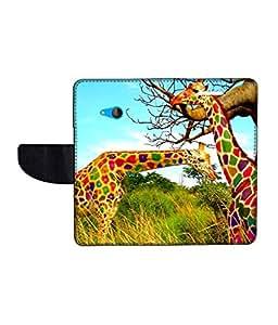 KolorEdge Printed Flip Cover For Microsoft Lumia 540 -Multicolor (50KeMLogo10977Lumia540)