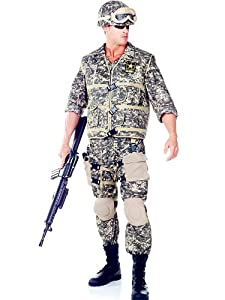 Underwraps UR29430PL-XXL Mens U.S. Army Ranger Costume Size Standard