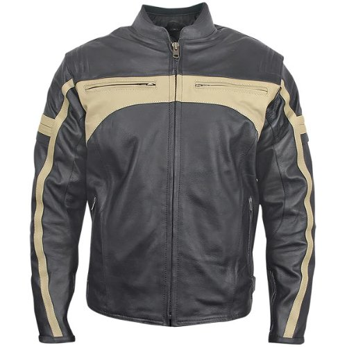 924b9c4b5 Xelement Mens BXU-100570 Armored Leather Motorcycle Jacket discount ...