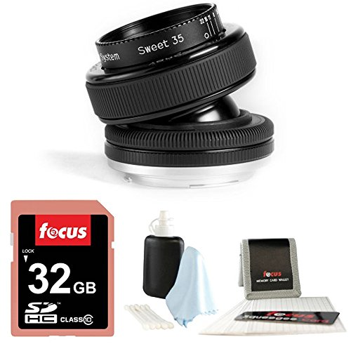 Lensbaby Composer Pro with Sweet 35 Optic for Canon Digital SLR with 32GB Accessory Bundle (Lensbaby Sweet 35 For Canon compare prices)